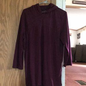 Wine red under armor hoodie